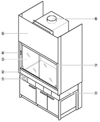Filter Fume Cupboards Specification Diagram