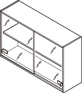 Over Bench Cabinets Specification Diagram
