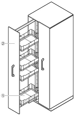 Pull out Cabinets Specification Diagram