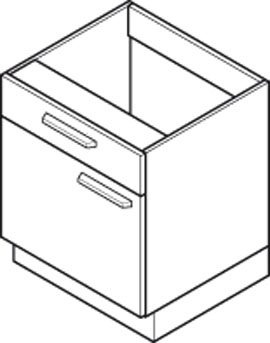 Under Bench Cabinets Specification Diagram